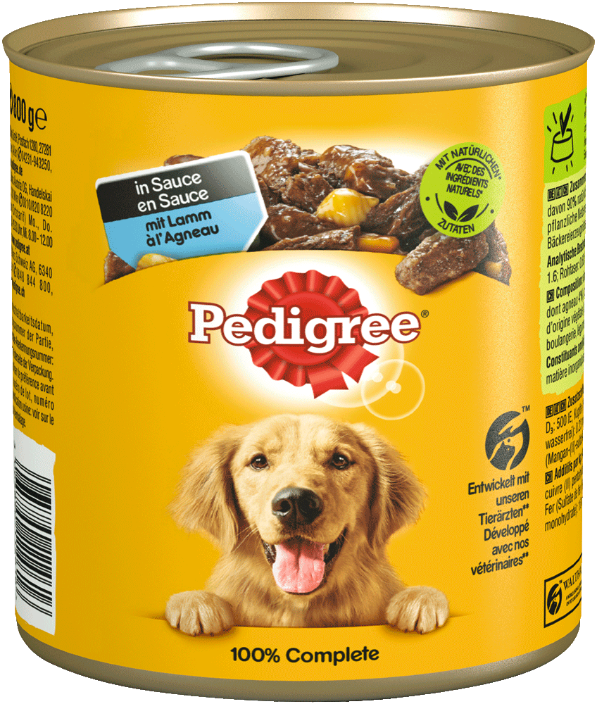 PEDIGREE® Dose mit Lamm in Sauce 800g