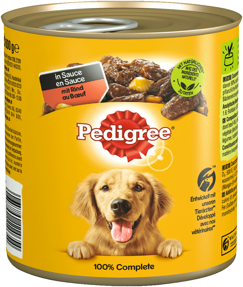 PEDIGREE® Dose mit Rind in Sauce 800g