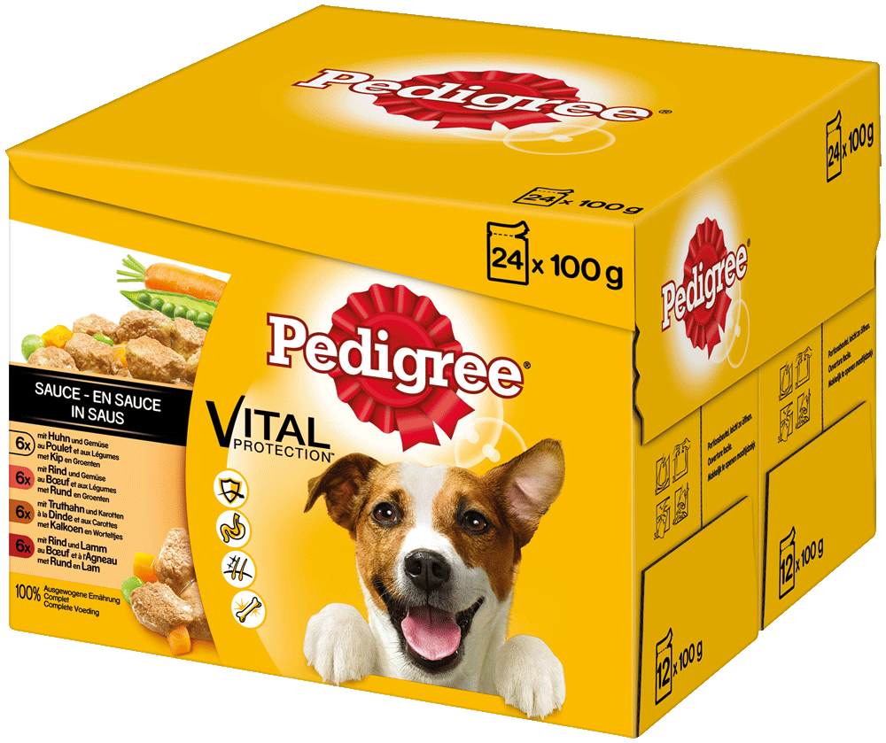 PEDIGREE Portionsbeutel Multipack in Sauce 24 x 100g