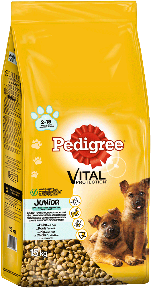 PEDIGREE® Vital Protection™ Beutel Junior Maxi mit Huhn und Reis 15kg