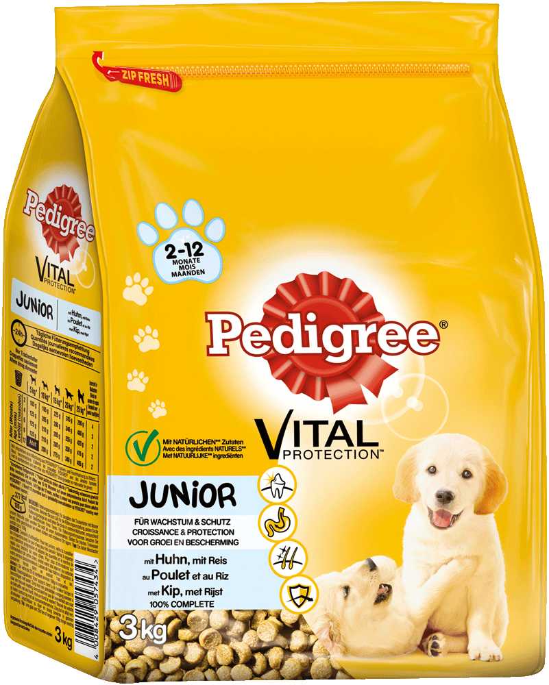 PEDIGREE Beutel Junior Medium Huhn und Reis 3kg