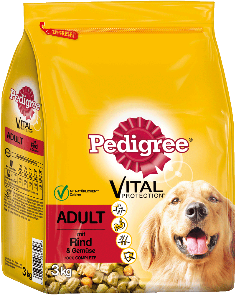 PEDIGREE® Vital Protection™ Beutel Adult mit Rind & Gemüse 3kg