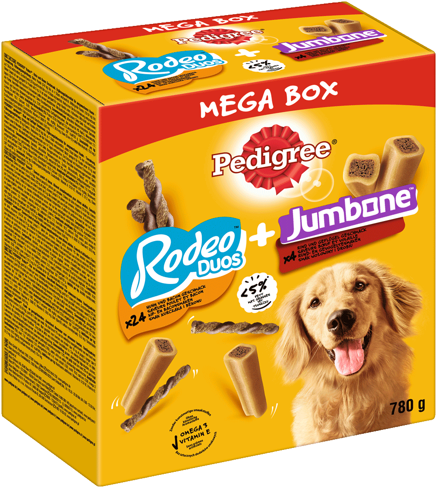 PEDIGREE Mega Box Rodeo und Riesenknochen Medium 780 g