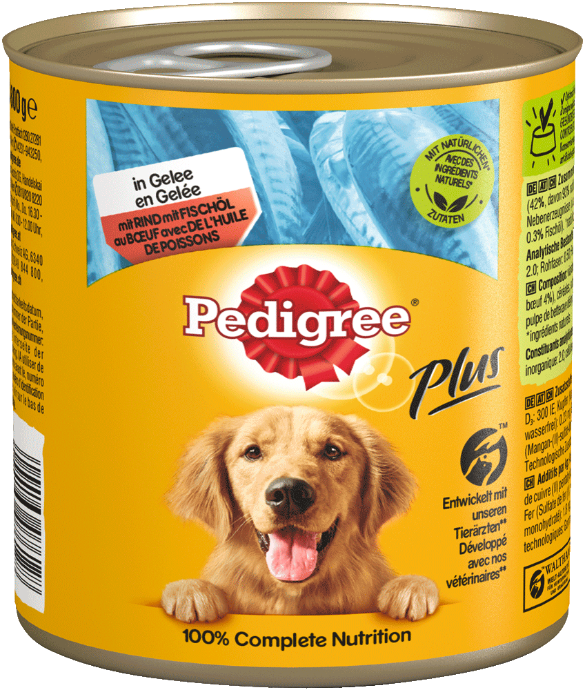 PEDIGREE Dose Plus Fischöl - Rind 800G