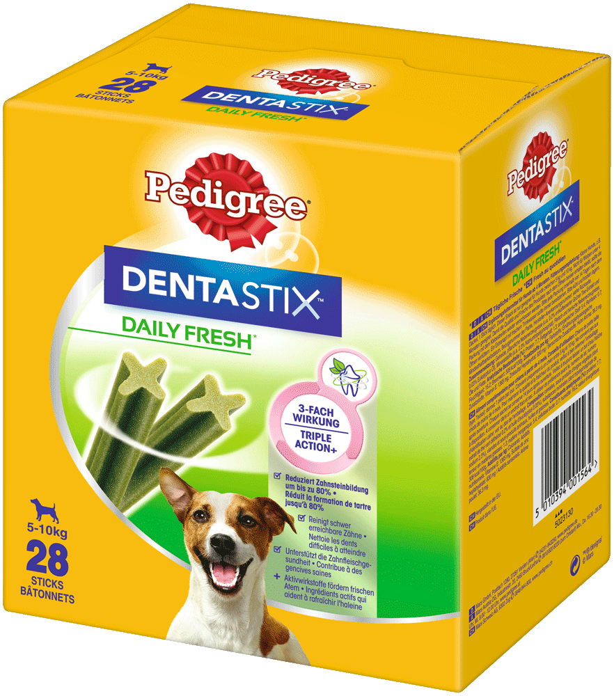 PEDIGREE® DENTASTIX™ Daily Fresh Beutel Multipack Kleine Hunde 4 x 7 Stück