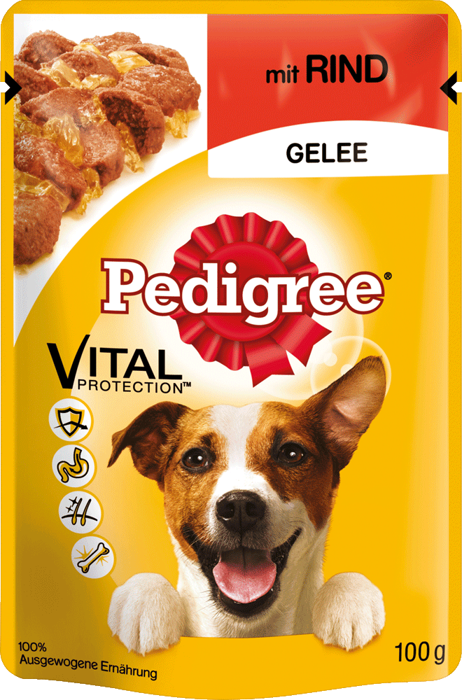 PEDIGREE Portionsbeutel mit Rind in Gelee 100g