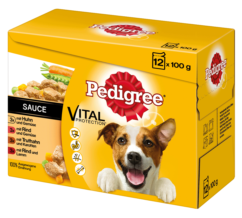 PEDIGREE Portionsbeutel Adult in Sauce Multipack 12 x 100g