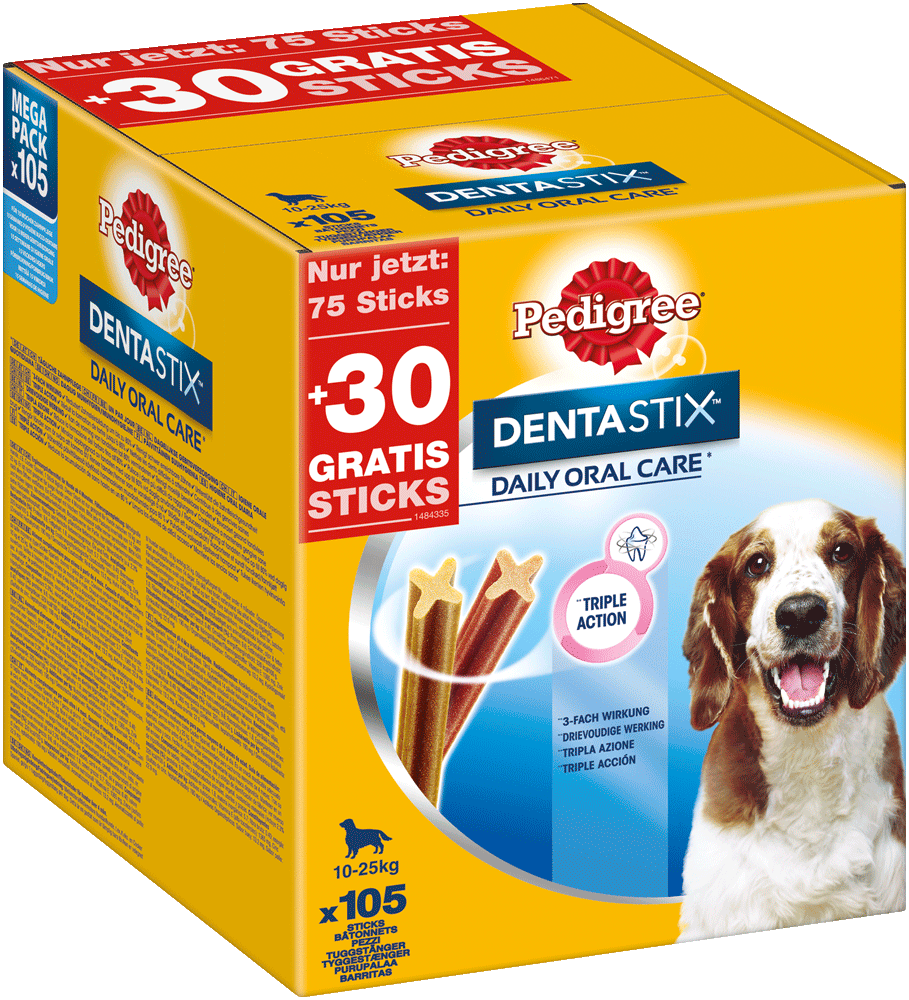 PEDIGREE DENTASTIX Mulitpack Medium 15 x 7 Stück
